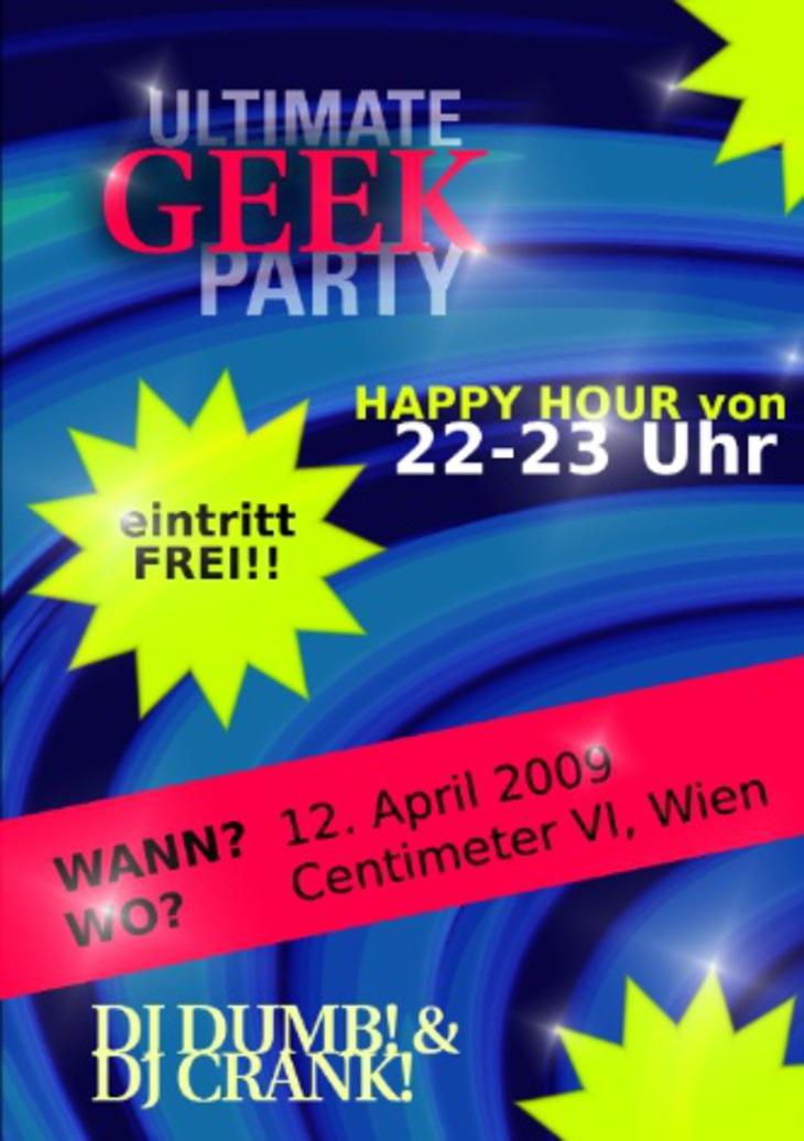 einen coolen party flyer gestalten gimp wettbewerbe. Black Bedroom Furniture Sets. Home Design Ideas