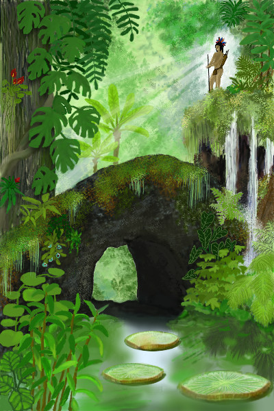 Dschungel digitales malen kreiert eure eigene for Dschungel malen