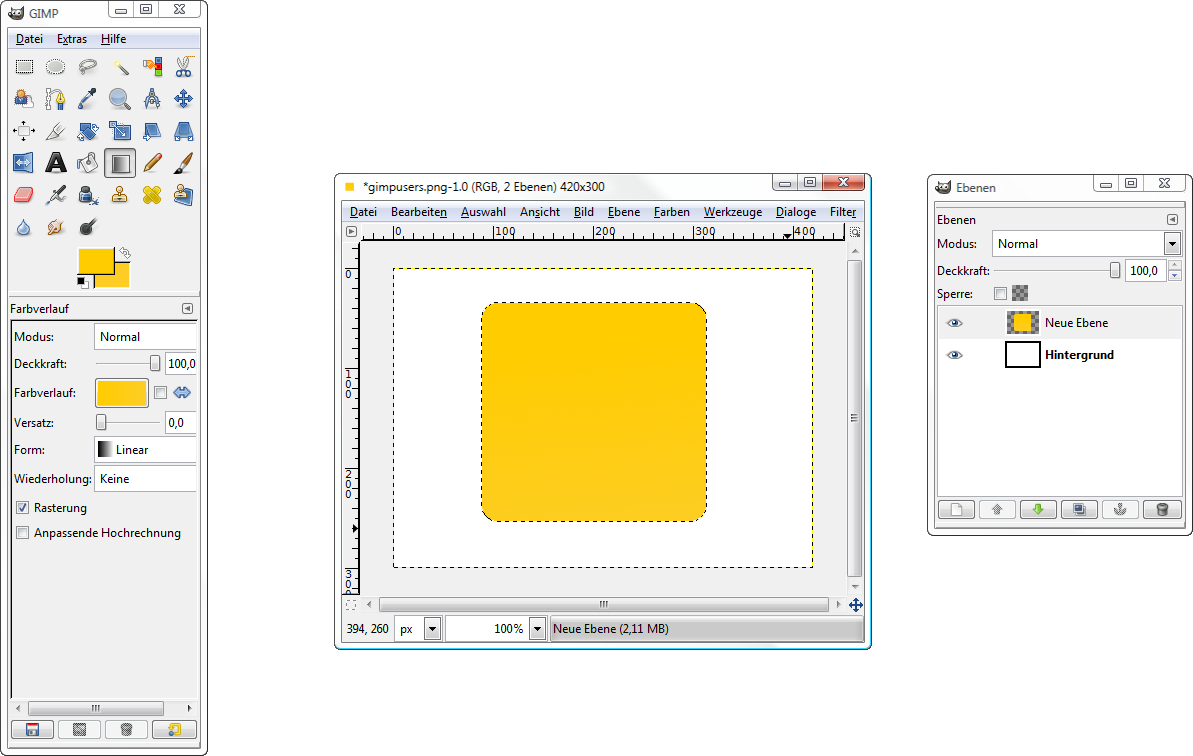 Ein einfaches, aber stylisches Logo erstellen — Tutorials — gimpusers.de